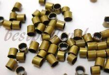 250 QUETSCHPERLEN CRIMPS DIY METALL ENDPERLEN 2mm STOPPER BRONZE   M18