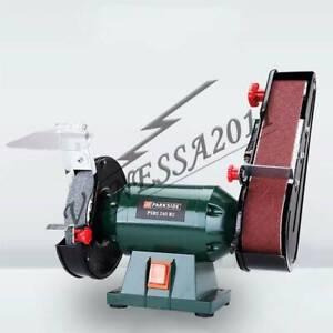 220V Electric Belt Sander Abrasive Finishing Grinding Machine Knife Sharpener