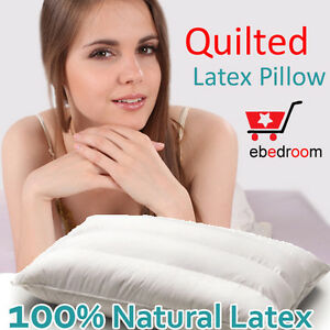 Brand New 100% NATURAL LATEX Quilted Three Channel PILLOW