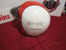 Vintage Custom Painted Helmet Feauturing SO-Cal Speedster Logo Red/White/Black
