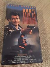 DON'T TALK TO STRANGERS, PIERCE BRONSON, VHS , GOOD TIMES 1996, SHRINK WRAP
