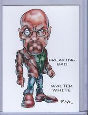 WALTER WHITE ** BREAKING BAD ** TRADING CARD ART SIGNED by RAK ** NEAR MINT