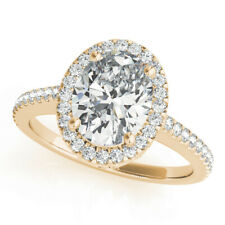 1.80 Ct Oval Cut Diamond Engagement Solitaire Ring 14K Yellow Gold Rings 7 5 6 8