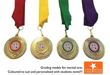 50 x Karate / Judo Medals. Inc YOUR logo and choice of ribbon.