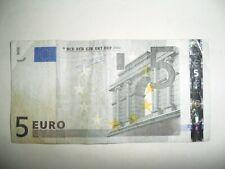 BANCONOTA 5 EURO I° TIPO 2002 SERIE E 00302083266 --- E010D2 STAMPATORE FRANCIA