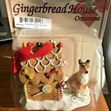 Collie Christmas Ornament Gingerbread House Dog Ornament Smooth Hair New