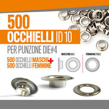 500 OCCHIELLI 10 MM occhiellatrice banner striscioni striscione pvc fora 50133