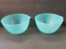 Set of Two Measuring Bowls Room Essentials Teal Blue Color Graduated Up To 2 Cup