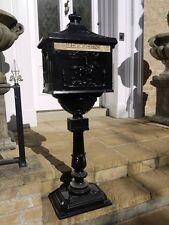 Casella Postale su cavalletto Alluminio Nera Decorativo Cassetta Della