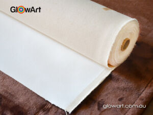 """TRIPLE PRIMED 100% COTTON CANVAS ROLL 8oz 48'' to 84""""  6 yards 350 GSM*"""
