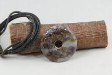 Donut Anhänger PIETERSIT ca. 40 mm, mit Lederband ! PI-Scheibe PI-Stein