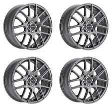 """Set 4 16"""" 5 Lug Vision Cross Wheels Gun Metal Fits Honda Toyota Kia Ford 5x4.5"""