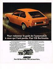 PUBLICITE ADVERTISING 024   1975   FIAT  128    BERLINETTA