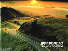 1984 PONTIAC Brochure / Catalog: TRANS AM,FIREBIRD,FIERO,Grand Prix,
