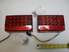 Pair LED Box Stop Turn Tail Trailer Camper RV Lights, J-72L J72  J-72