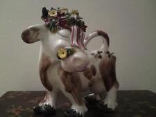 LEOPALD Anzengruber Keramik WIEN ÖSTERREICH erzeugni AUTRICHE VACHE Pottery Figure