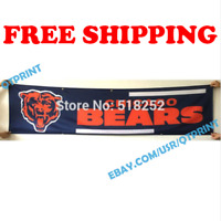 Chicago Bears Banner Flag 2x8 ft 2020 NFL Fan Club Wall Home Decor NEW