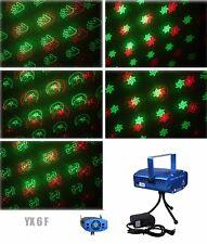 6 in 1 LED Laser Bühnenlicht Disco Party Lichteffekt Licht Lampe Projektor GX6F