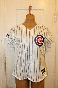 MAJESTIC Chicago Cubs Baseball Button Up Jersey Custom ADAM 2 Women's Small NWT
