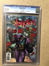 🔥Batman Joker #1 #23.1 CGC Graded 9.9 DC 2013 3-D Lenticular. Awesome Cover! 🔥