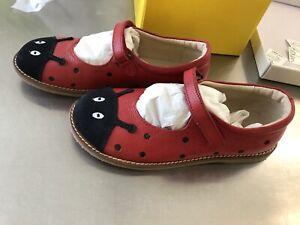 mini boden girls shoes Size 2 Size 33 NEW Mary Jane Ladybug Red