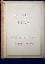 1939 Lee Junior High School Yearbook - Roanoke, VA