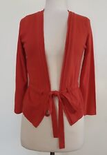 LAURA ASHLEY Coral/Red 3/4 Sleeve  Cardigan Size XS