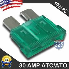 1000 Pack 30 AMP ATC/ATO STANDARD Regular FUSE BLADE 30A CAR TRUCK BOAT MARINE