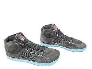Reebok 010 CrossFit Lite TR Suede Powerlifting High Top Shoes Black Blue US 12