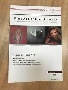 Hahnemuhle Fine Art Inkjet Canvas Monet Canvas 410 GSM A3+ 19 Sheets