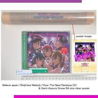 Love Live Sunshine over the rainbow Saint Aqours Snow CD & limited B4 poster
