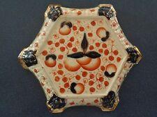 Antique Gaudy Dutch ~ Oyster~ Teapot Stand ~ Hexagonal Trivet