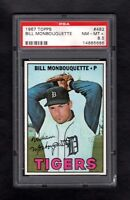 1967 TOPPS #482 BILL MONBOUQUETTE TIGERS PSA 8.5 NM/MT+ CENTERED!