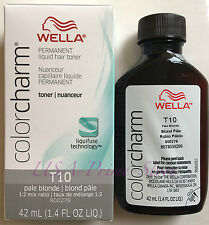 NEW! Wella Color Charm Liquid Toner #T10 Pale Blonde, 1.4oz/42 ml.  #UK SELLER