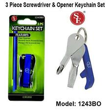 3pc Smart Keychain Bottle Opener Screwdriver Multi Optimum Tool SE 1243BO