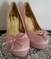 "Mascotte Brand ~ Women's Size 8 ~ Blush in Color ~ 5.5"" Hi-Heel Platform Shoes"
