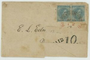 Mr Fancy Cancel CSA 6 PAIR TURNED COVER TIED RED BUCKINGHAM CH VA CDS + PAID 10