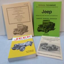 PROMO LIVRES Jeep Willys  4 ouvrages indispensables BECKER MB GPW HOTCHKISS M201