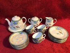 Vintage Noritake Child's/Doll Tea Set Pearlized 22 Pieces