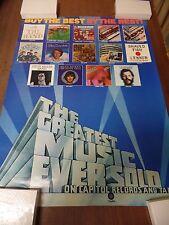 """Capitol Records Promotional Vinyle 18x24"""" Vintage 1970s Original Poster P11"""