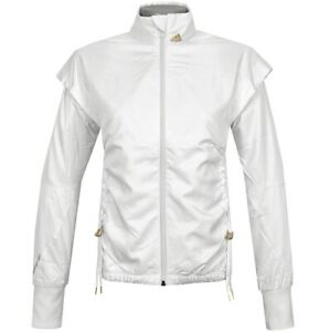 Warm adidas Ladies Running Jacket Training Sports Windbreaker Cream