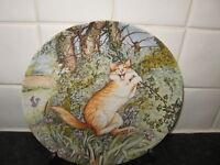 COMICAL CAT  PLATE  -  TARZAN   by ZOE STOKES  - AMERICAN ARTISTS