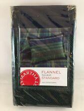 Martha Stewart Collections - Flannel Standard Pillow sham - Warwick Stripe