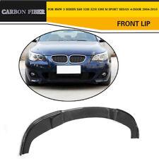 Carbon Fiber Car Front Bumper Lip Fit For BMW E60 520i 525i M-Sport M-Tech 04-10