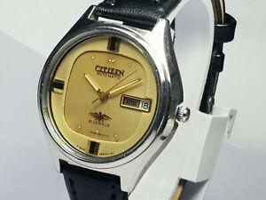 Vintage Citizen Mechanical Automatic Analog Dial Mens Wrist Watch WU207 F