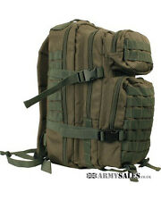Olive GREEN SMALL 28L Molle Assault Pack by Kombat UK - Backpack, Rucksack, Bag