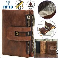 Men Wallet RFID Wallet Mens Leather Genuine Vintage Coin Purse Casual Accessorie