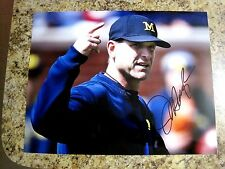 JIM HARBAUGH MICHIGAN WOLVERINES SIGNED AUTOGRAPHED 11X14 PHOTO #1 W/COA