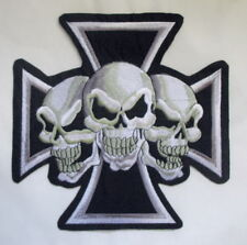 Eisernes Kreuz Totenkopf  Aufnäher Patch Iron Cross Skulls XL