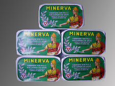 5 Cans Portuguese Sardines Minerva Skinless & Boneless in Olive Oil 120g 4.23oz
